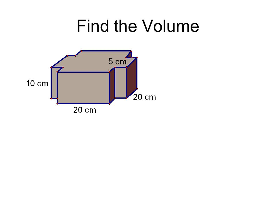 Find the Volume
