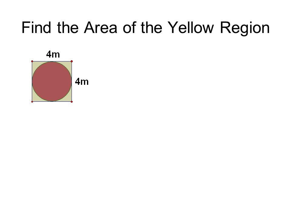 Find the Area of the Yellow Region