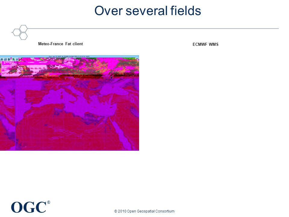 OGC ® © 2010 Open Geospatial Consortium Over several fields Meteo-France Fat client ECMWF WMS
