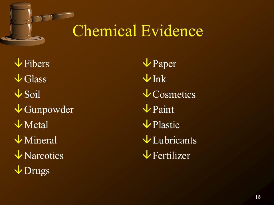 17 Biological Evidence âBlood âSemen âSaliva âSweat/Tears âHair âBone âTissues âUrine âFeces âAnimal Material âInsects âBacterial/Fungal