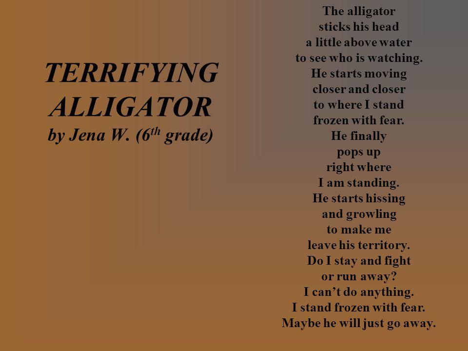 TERRIFYING ALLIGATOR by Jena W.