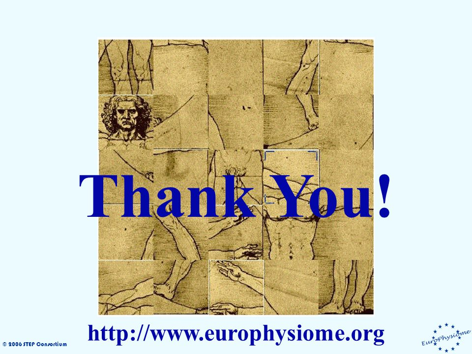 © 2006 STEP Consortium Thank You! http://www.europhysiome.org