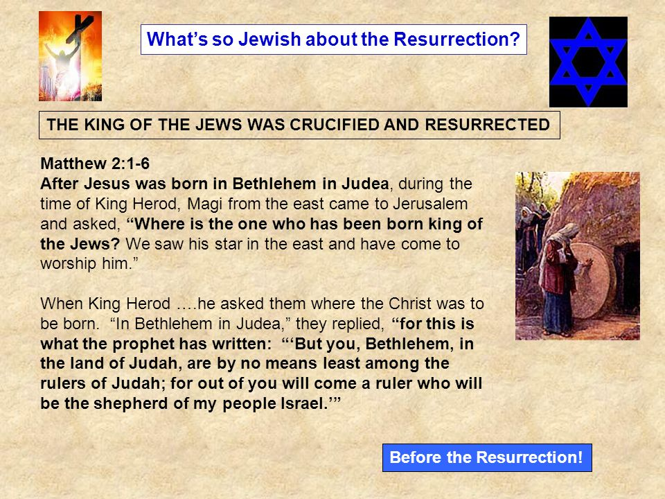 What's so Jewish about the Resurrection.