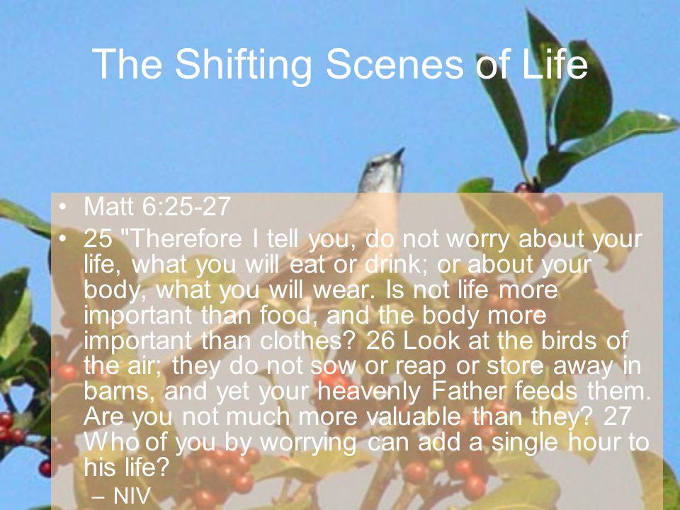 Matt 6:25-27 25