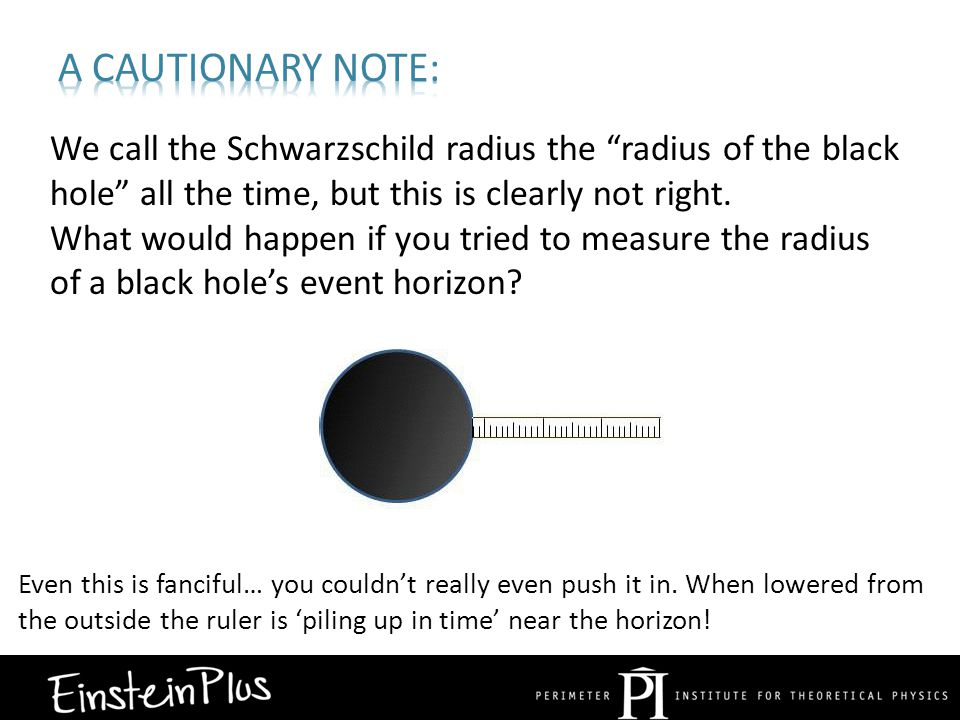 We call the Schwarzschild radius the radius of the black hole all the time, but this is clearly not right.