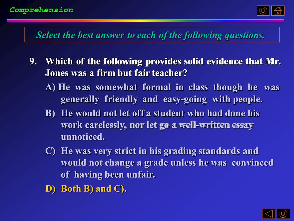 8.The expression pop quizzes (para. 4) probably refers to _____.