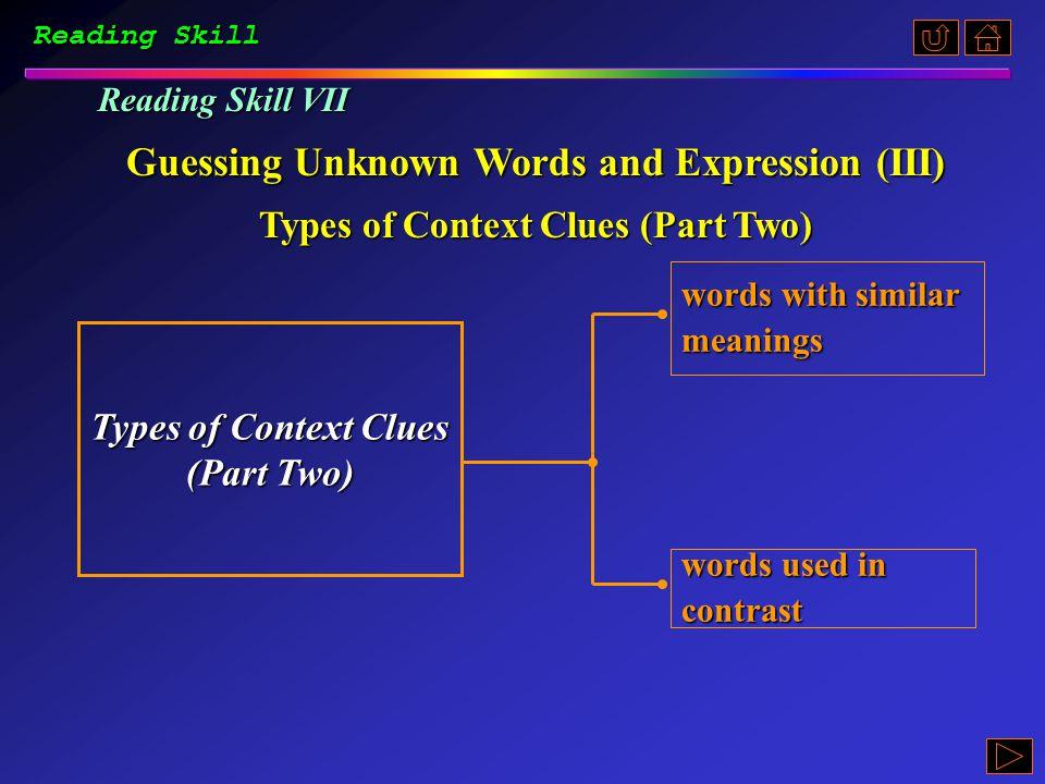 Reading Skill Ex. B, p. 200 《读写教程 I 》 : Ex. B, p. 200