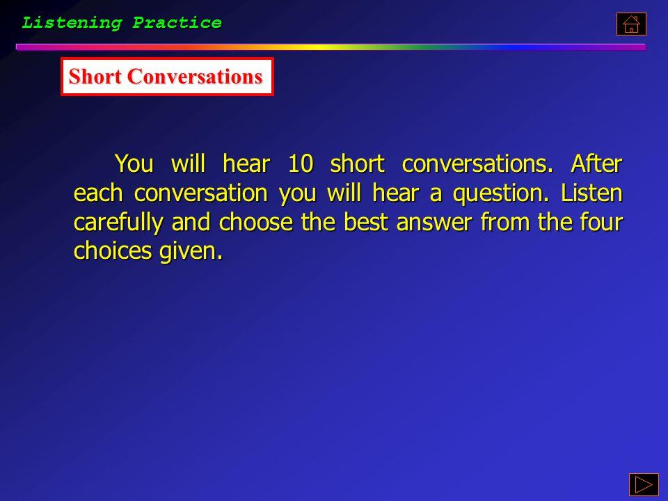Part 5.3, p. 67 《听说教程 I 》 : Part 5.3, p. 67 Listening Practice