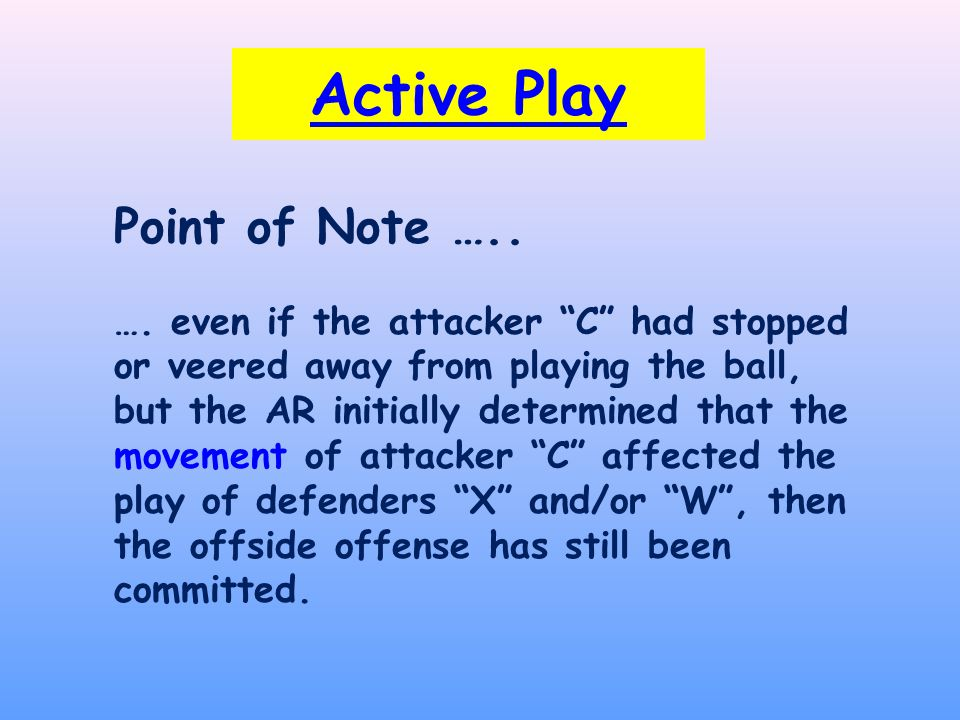 Active Play Point of Note ….. ….