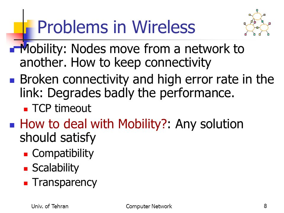 Multicast & Mobility Tunnels CH Use IP-multicasting to support mobility!