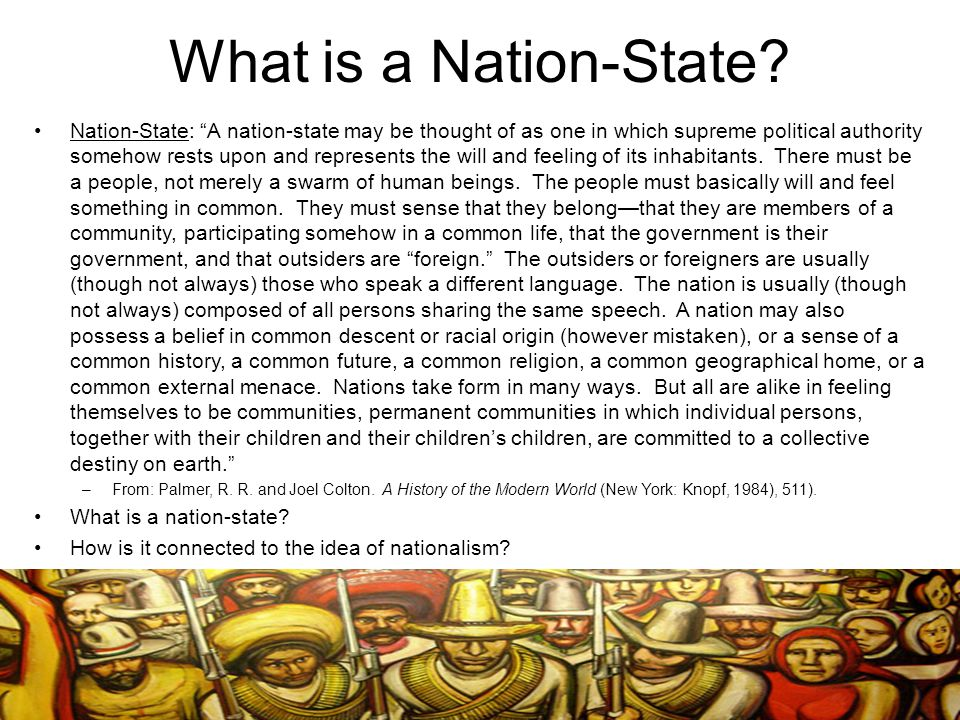 What is a Nation-State.