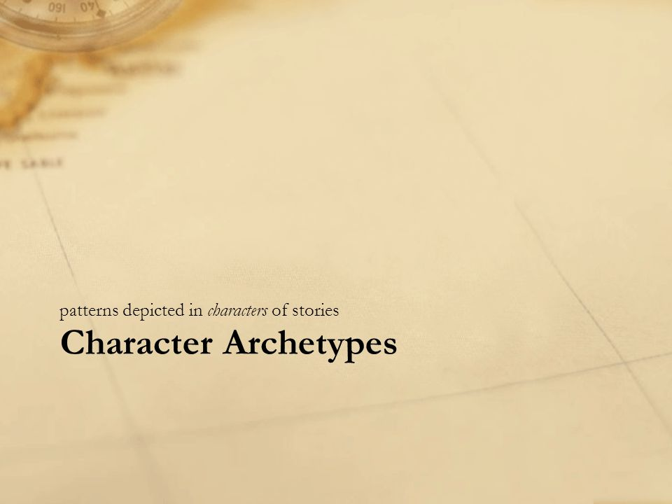 Character Archetypes patterns depicted in characters of stories