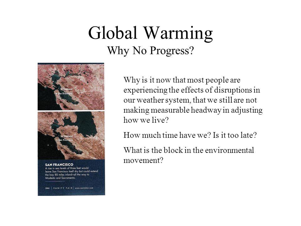 Global Warming Why No Progress.