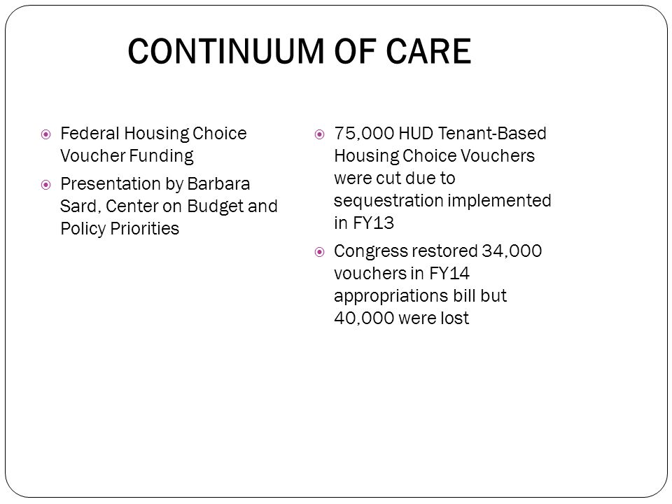  Housing Action Illinois and SHPA co-host the Continuum of Care Committee.  CSH, IHDA, DCEO and IACAA staff also participate, as well as members of