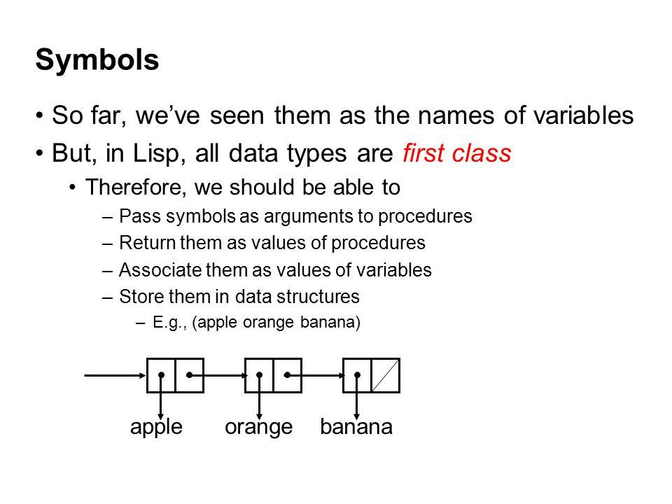 How do we refer to Symbols.