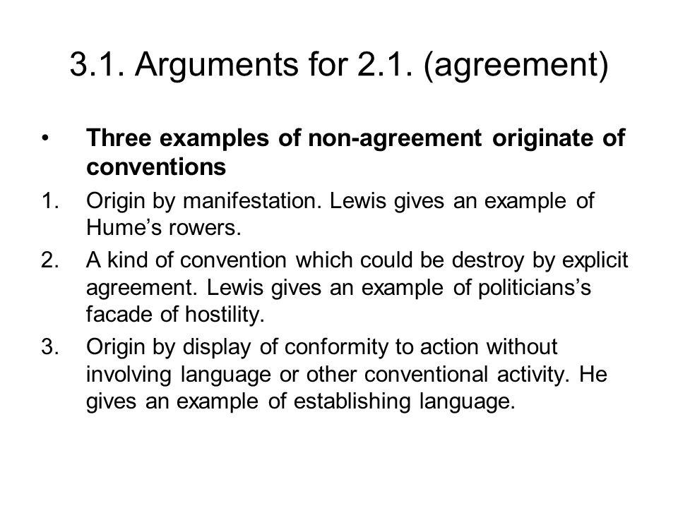 3.1. Arguments for 2.1.