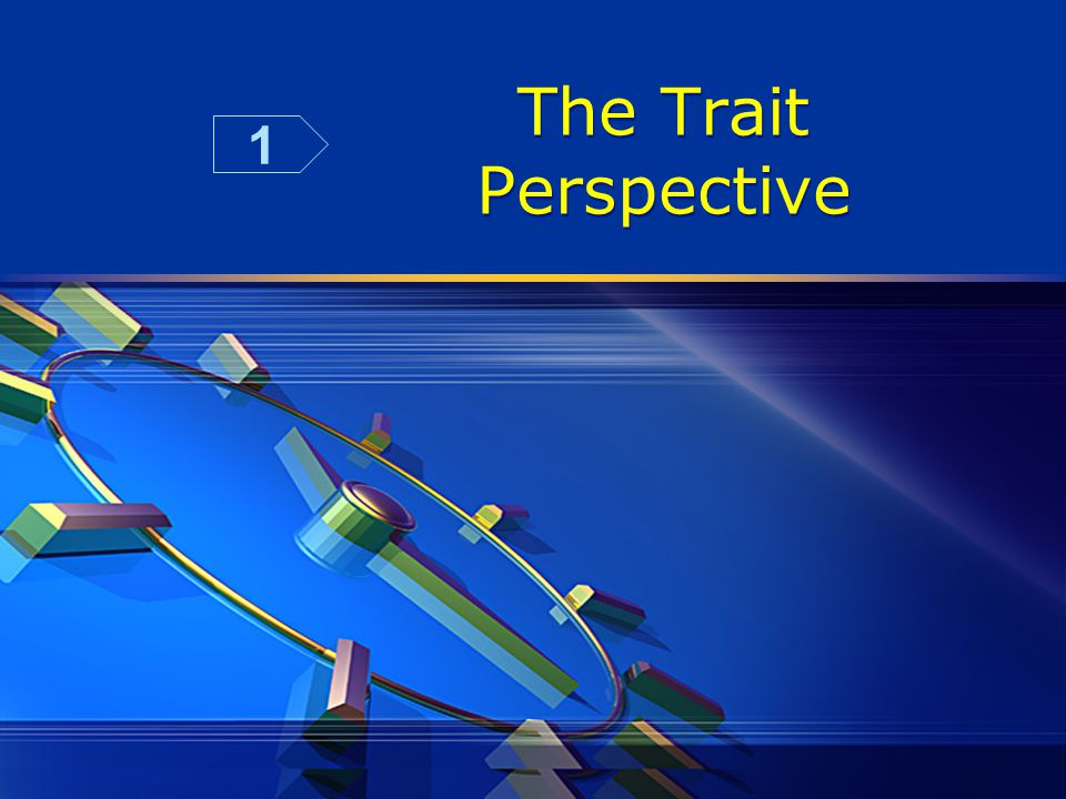 The Trait Perspective 1