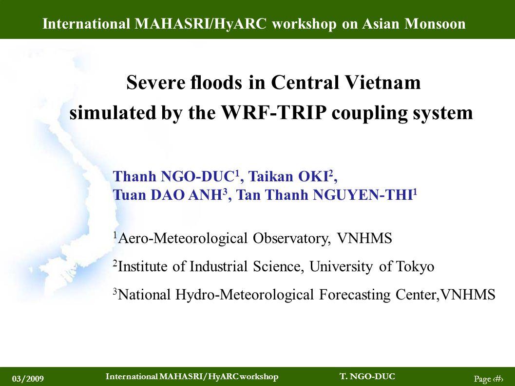03/2009 International MAHASRI/HyARC workshop T.