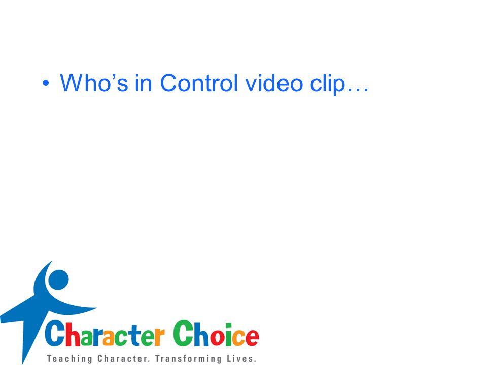 Who's in Control video clip…