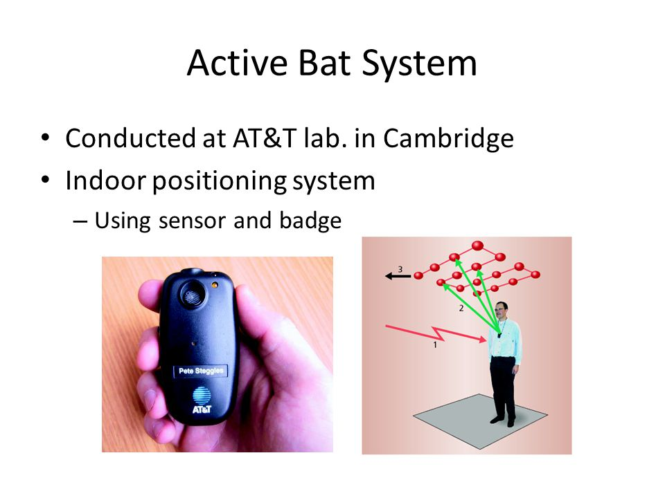 Active Bat System Conducted at AT&T lab.