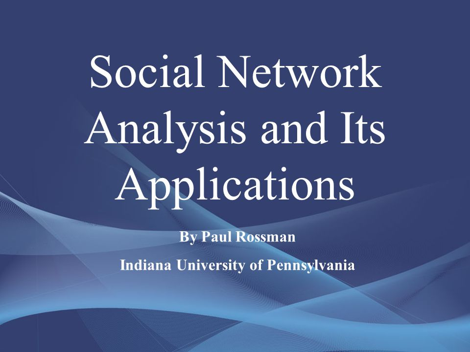 What is Social Network Analysis.