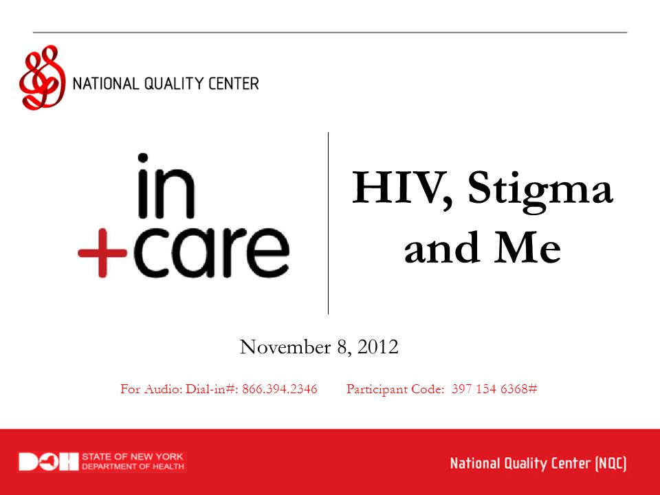 2  Welcome & Overview- 5 mins  The Stigma of HIV/AIDS – 30 mins  Panel Discussion on Stigma, 20 mins  Wrap-up & Evaluation, 5 mins Michael Hager in+care Campaign Manager National Quality Center New York, NY michael@nationalqualitycenter.org Conversation opportunities throughout webinar Agenda