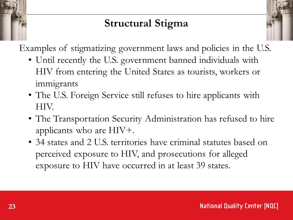 23 Examples of stigmatizing government laws and policies in the U.S.