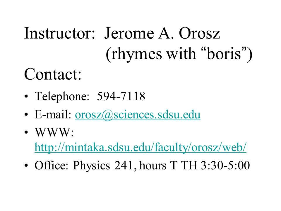 Instructor: Jerome A.