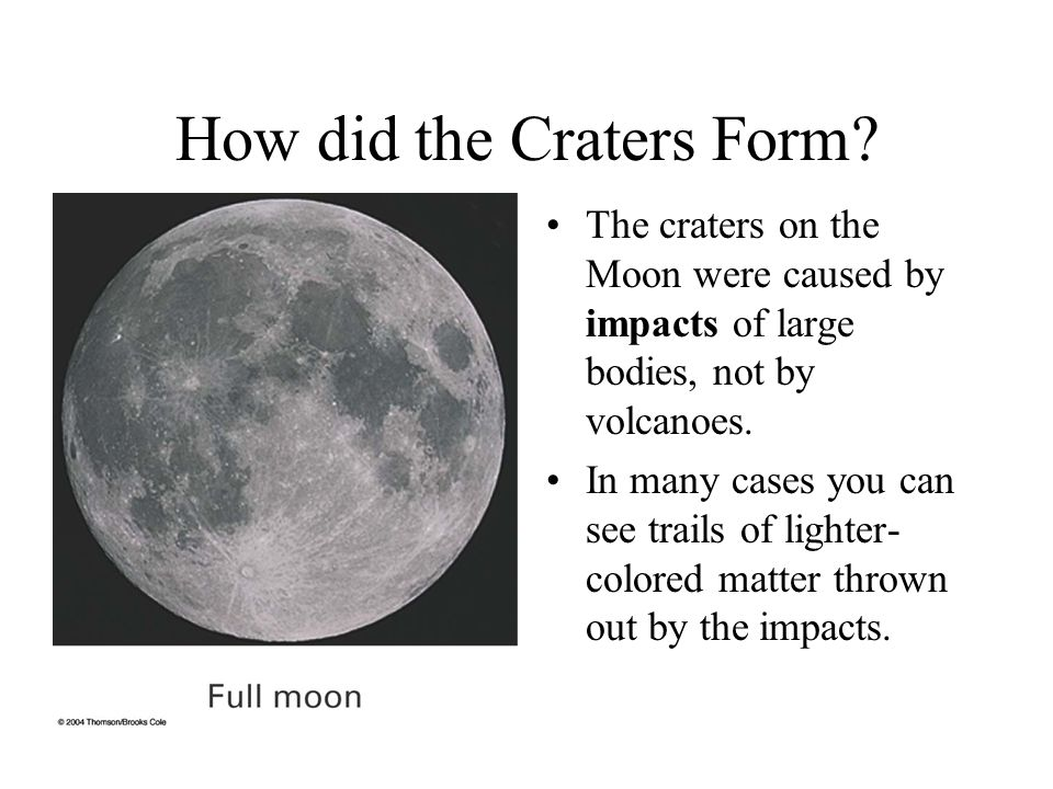 How did the Craters Form.