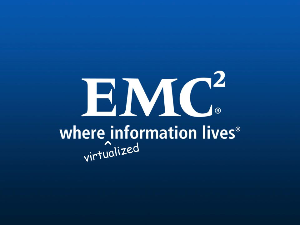 24 © Copyright 2008 EMC Corporation. All rights reserved. virtualized ^