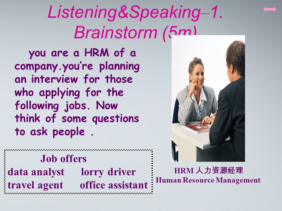 Listening&Speaking – 1.