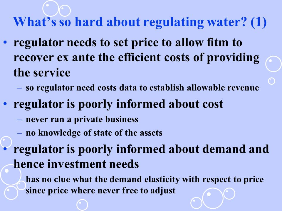 What's so hard about regulating water.