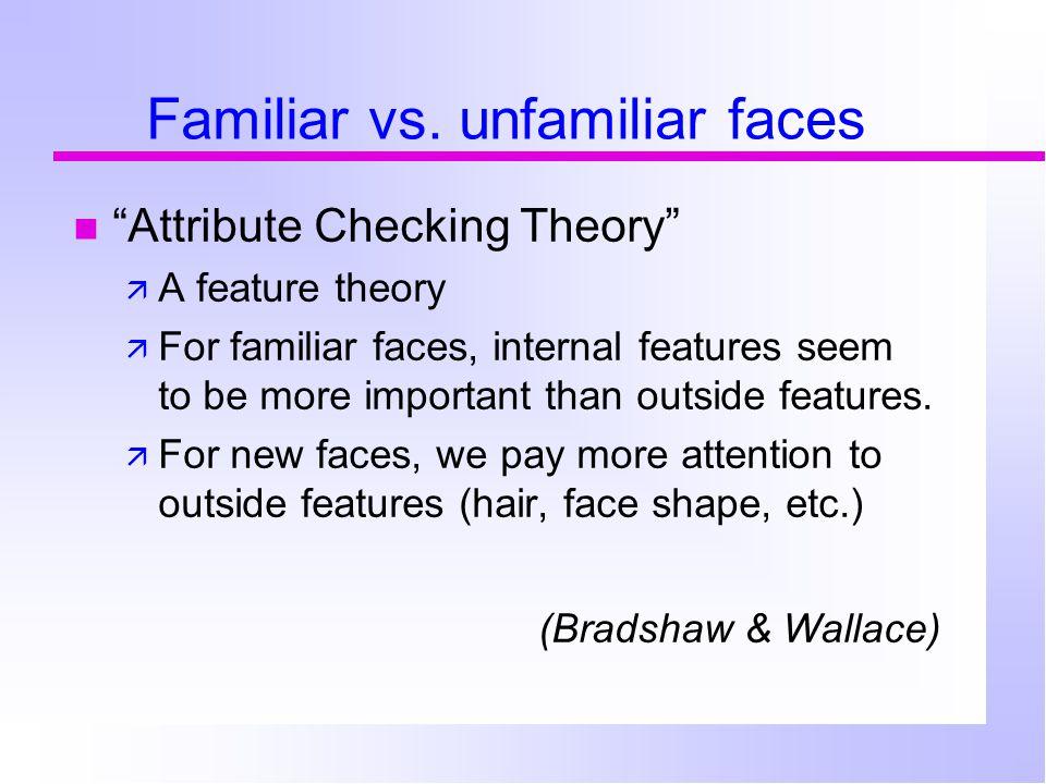 Familiar vs.