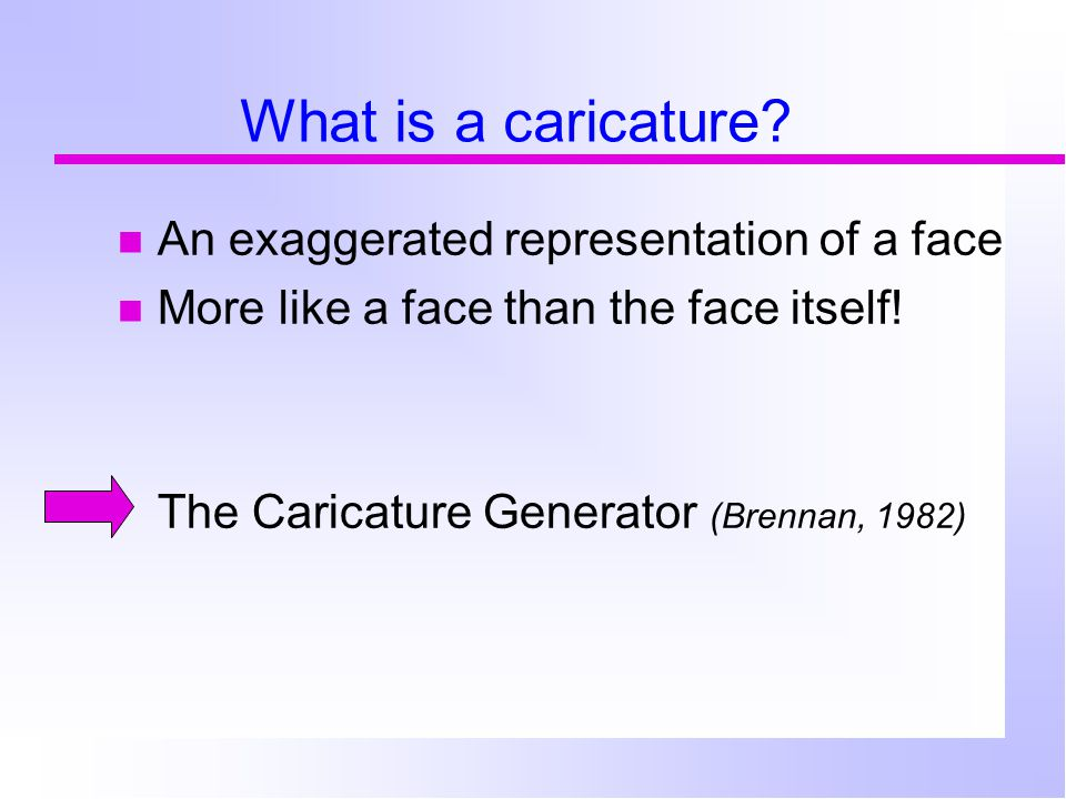 What is a caricature.