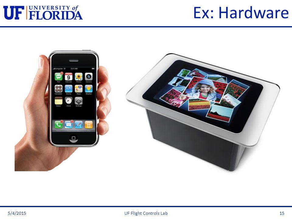 Ex: Hardware 5/4/2015UF Flight Controls Lab15
