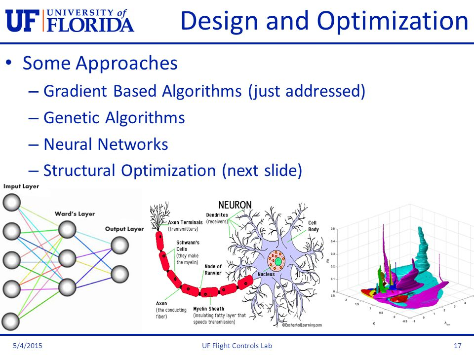 Design and Optimization Some Approaches – Gradient Based Algorithms (just addressed) – Genetic Algorithms – Neural Networks – Structural Optimization