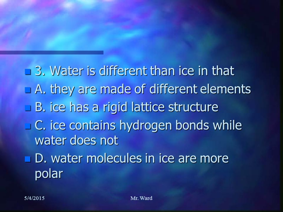 n 2. At what temperature does water freeze. n A.