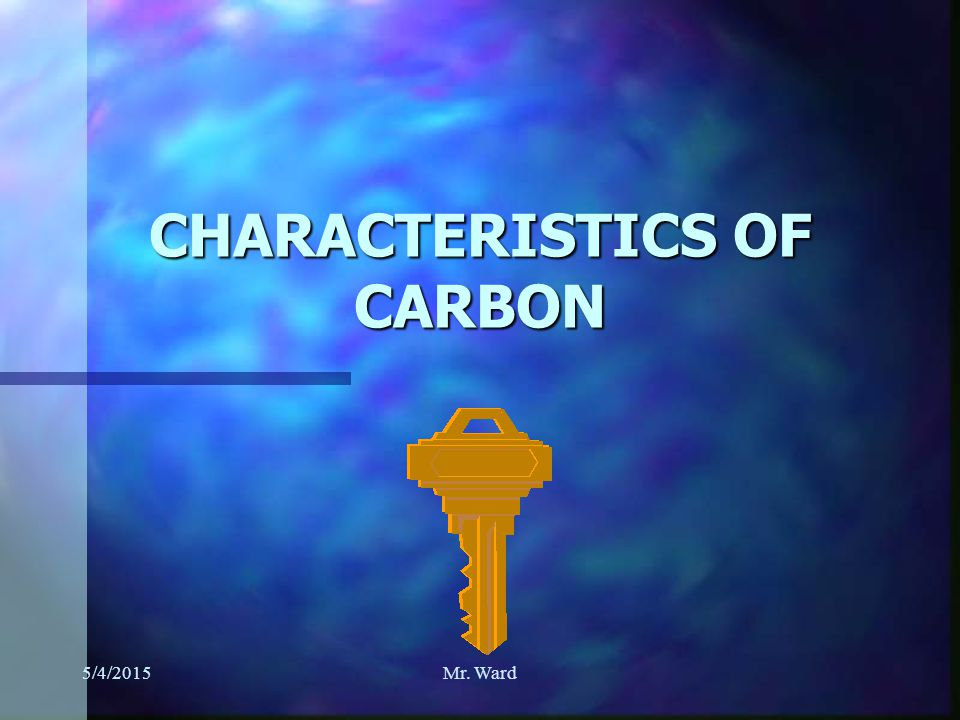 5/4/2015Mr. Ward n 3. ORGANIC COMPOUNDS CONTAIN CARBON, HYDROGEN, AND USUALLY OXYGEN.