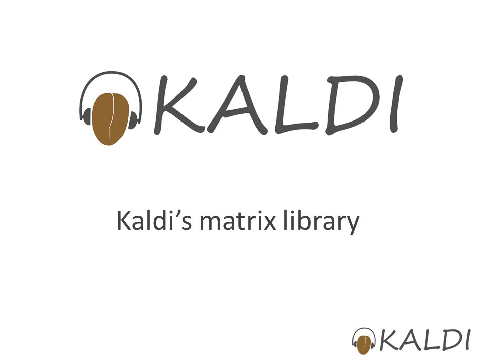 Kaldi's matrix library