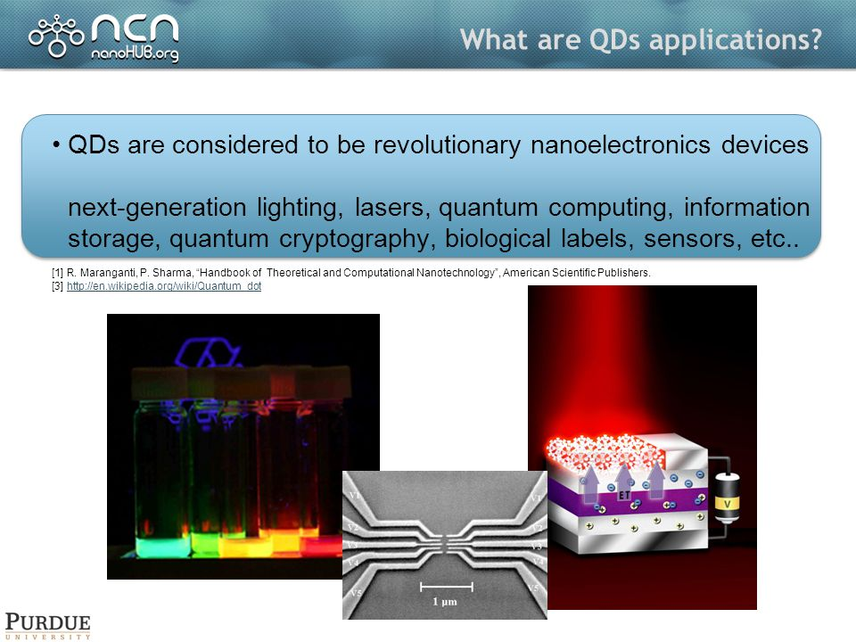 What are QDs applications.
