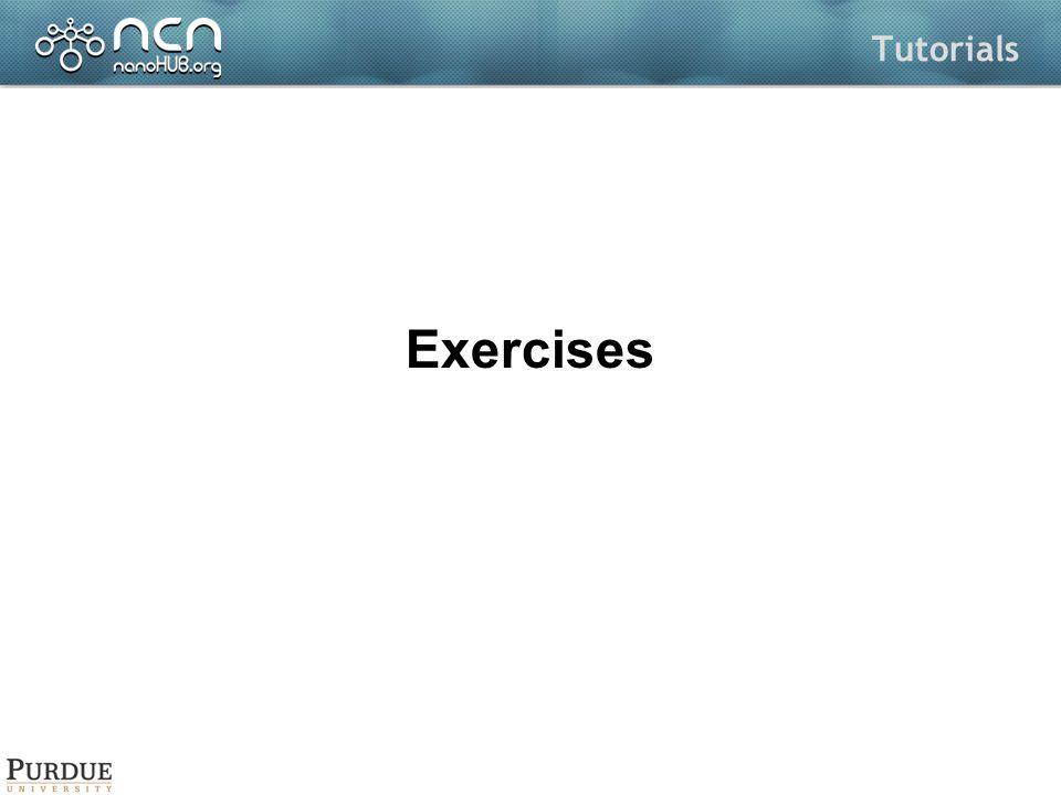Tutorials Exercises