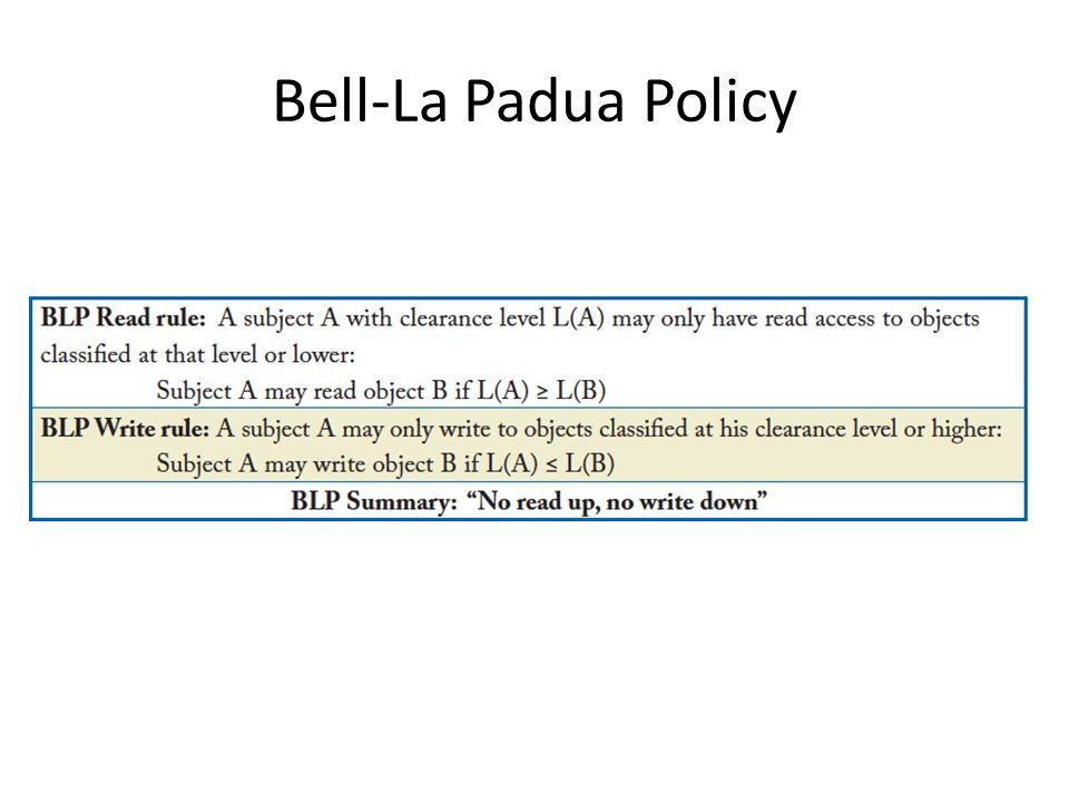 Bell-La Padua Policy
