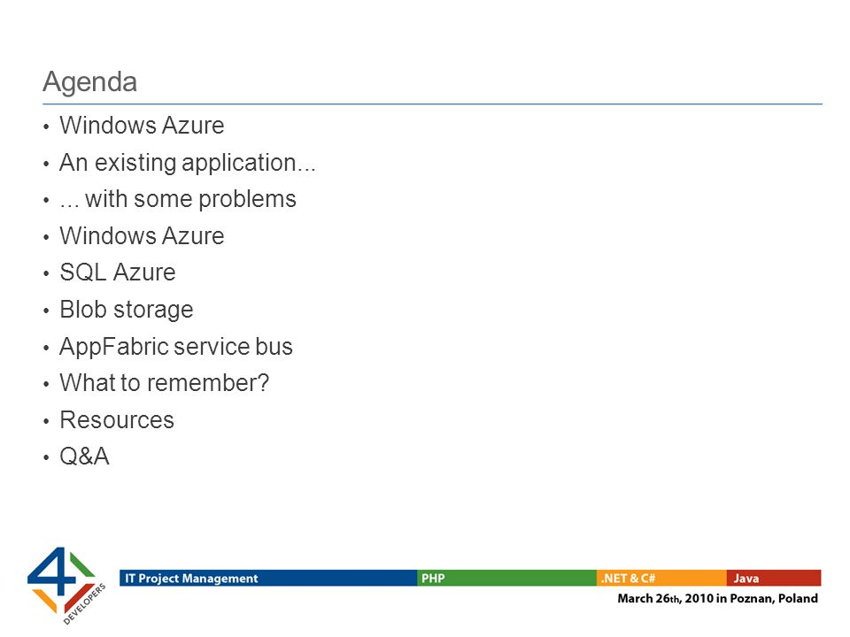 Moving an application to the cloud Assess application Is it suitable?Is it suitable.
