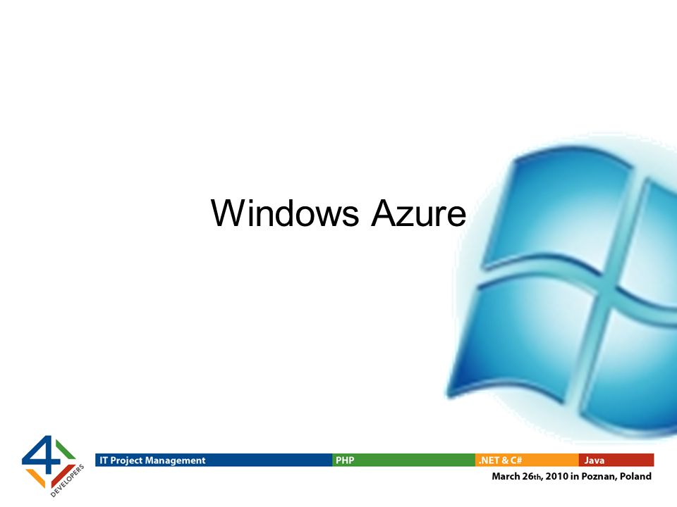 Package up the application Deploy the thing Requirements: Windows Azure SDK A web browser