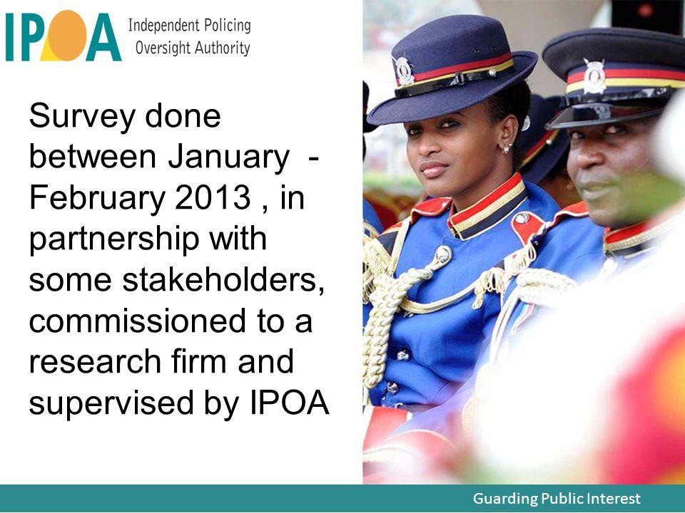 Guarding Public Interest Public confidence in IPOA
