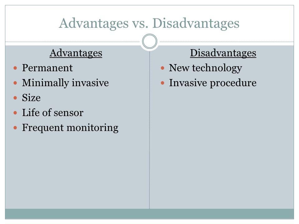 Advantages vs.