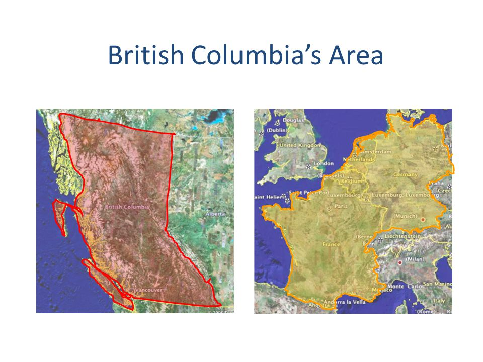 British Columbia's Area