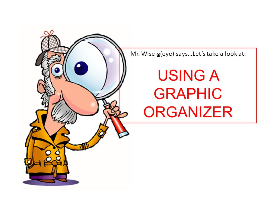 Mr. Wise-g(eye) says…Let's take a look at: USING A GRAPHIC ORGANIZER