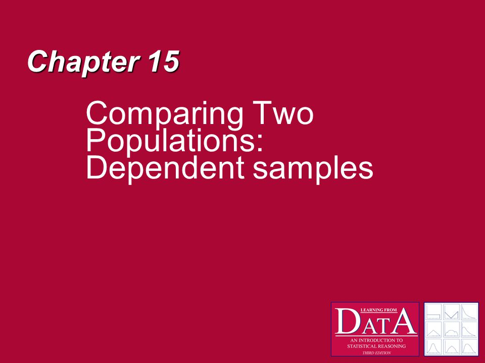 Chapter 15 Comparing Two Populations: Dependent samples