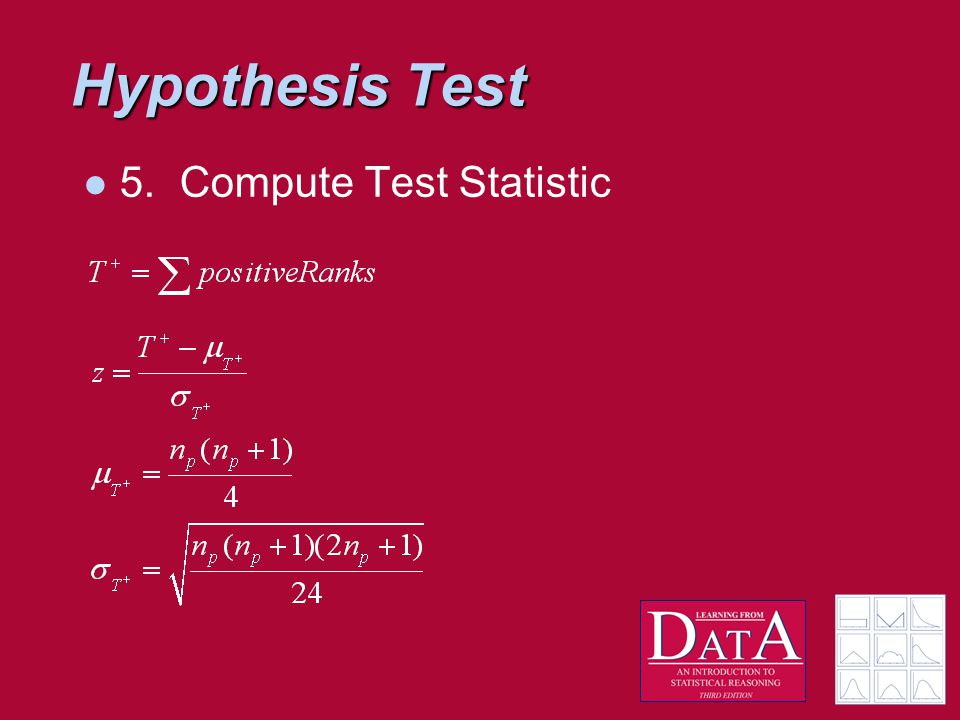 Hypothesis Test 5.Compute Test Statistic